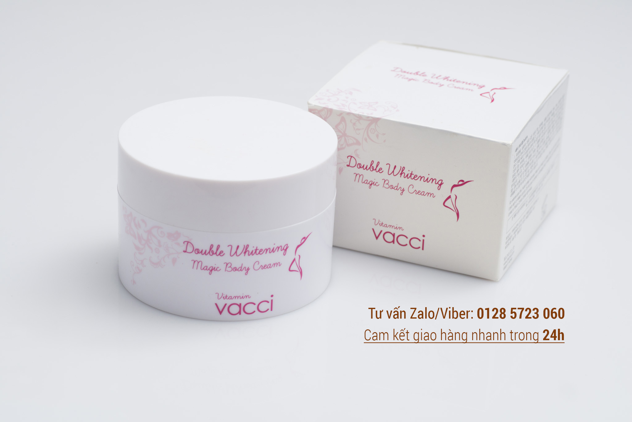 Kem dưỡng trang điểm trắng da toàn thân - Vacci Double Whitening Magic Body Cream