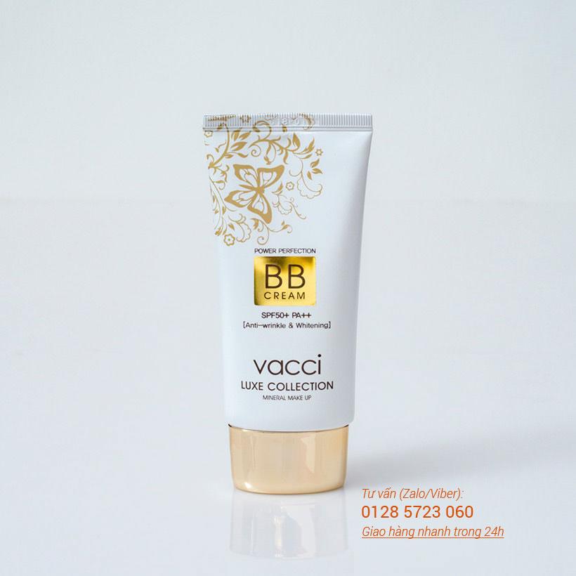 Kem phấn trang điểm Vacci cao cấp BB Cream dạng tuýp Spf 50  Pa