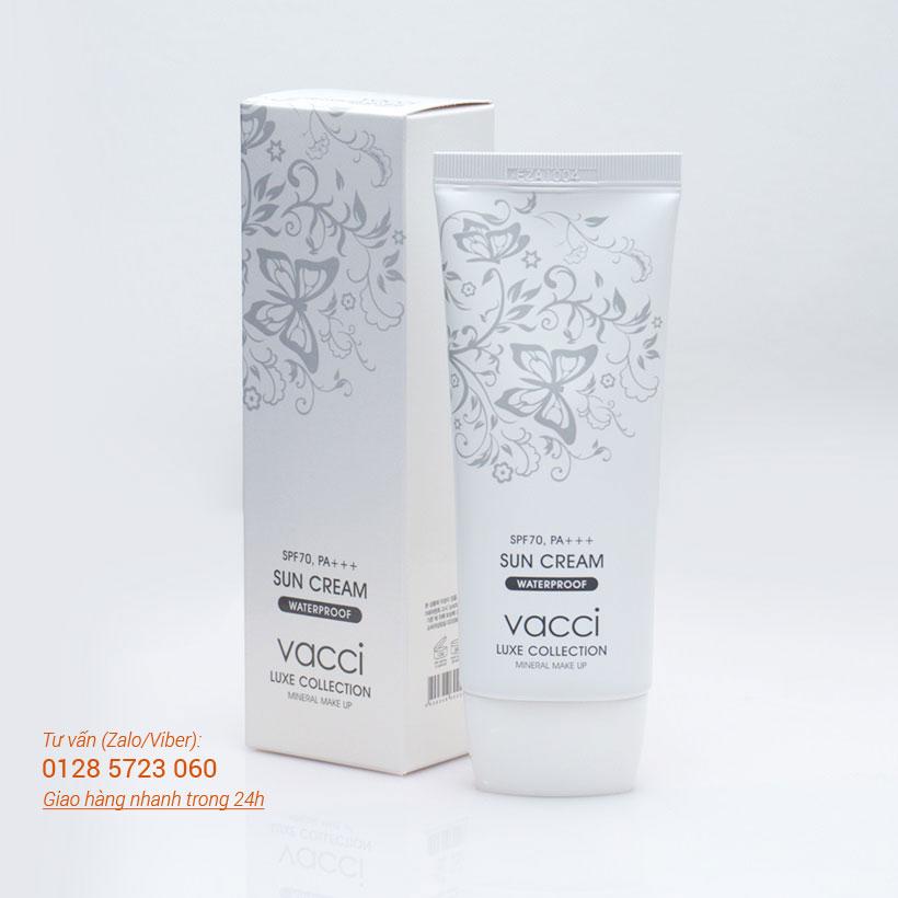 Kem chống nắng mặt & toàn thân Vacci - Luxe Collection Sun cream SPF70 Pa++