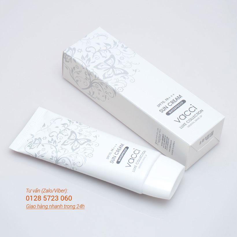 Kem chống nắng mặt & toàn thân Vacci - Luxe Collection Sun cream SPF70 Pa