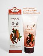 Sữa rửa mặt Vacci tinh chất Nhân sâm đỏ - Red Ginseng Skin Relaxation Foam Cleansing