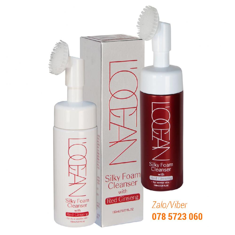 Sữa Rửa Mặt Massage Dưỡng Ẩm, Trắng Da Hồng Sâm L'ocean Silky Foam Cleanser With Red Ginseng