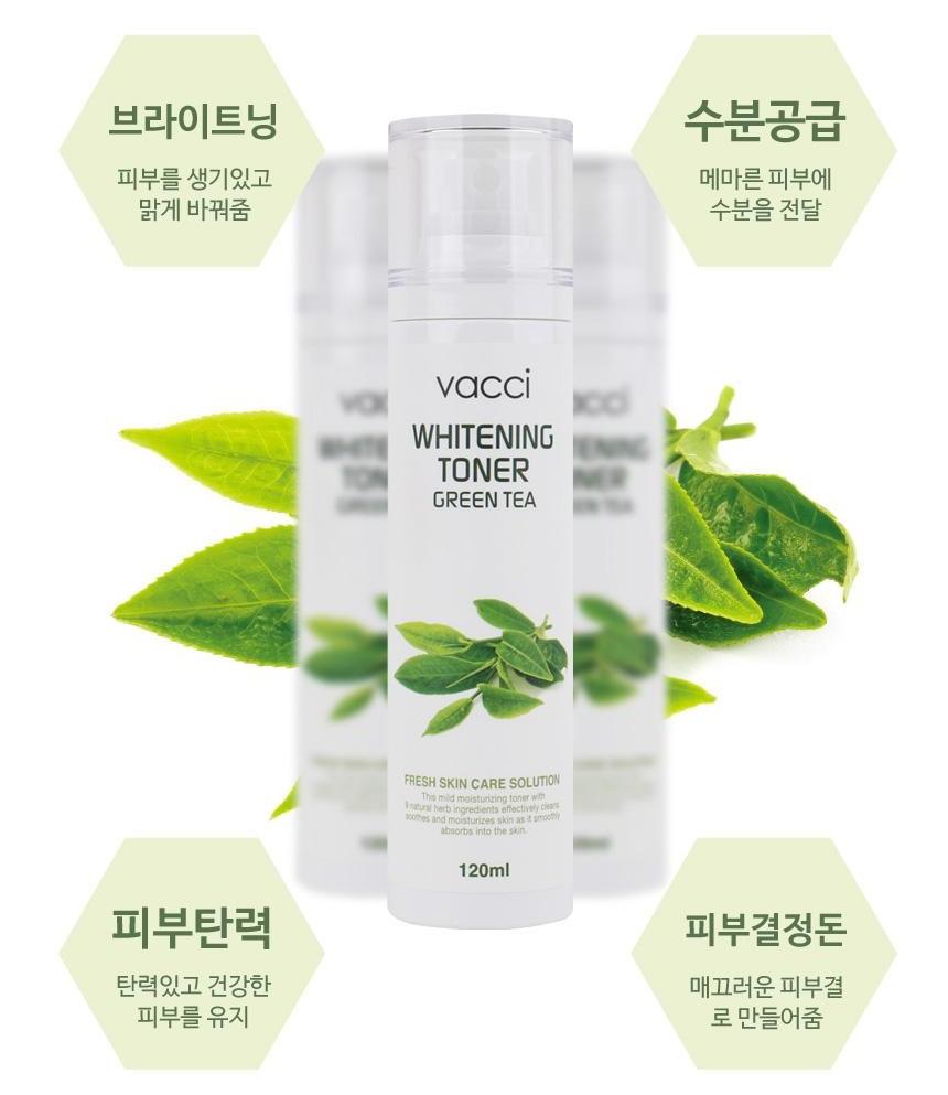 Nước hoa hồng trắng da Vacci chiết xuất trà xanh - Vacci Whitening Toner Green Tea