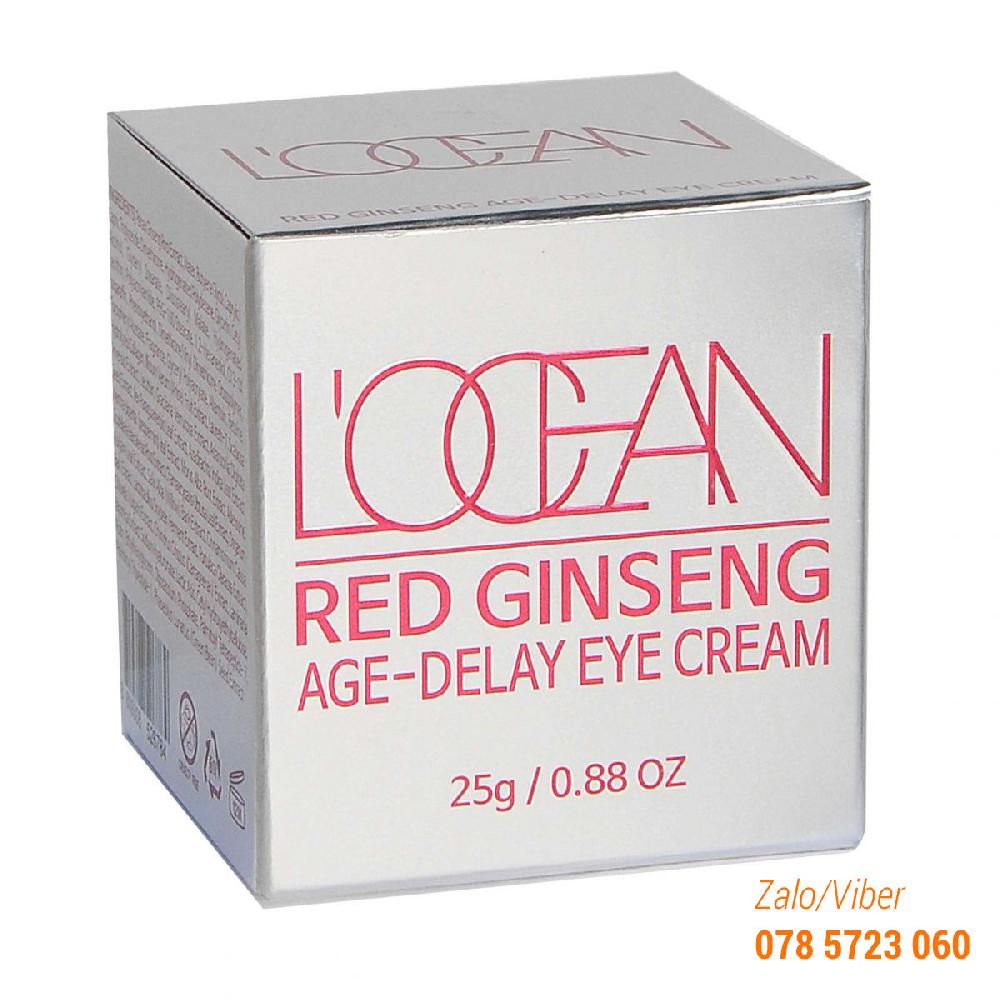 Kem hồng sâm chống thâm quầng mắt L'ocean Red Ginseng Age Delay Eye Cream