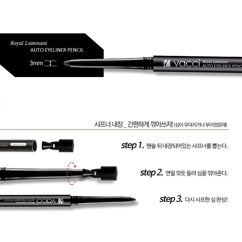 Chì định hình mí cao cấp không lem Vacci Auto Eyeliner Pencil