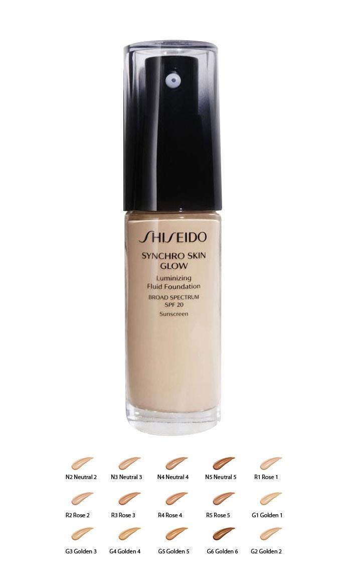 Phấn nền thông minh Shiseido Synchro Skin Glow Luminizing Fluid Foundation dạng lỏng