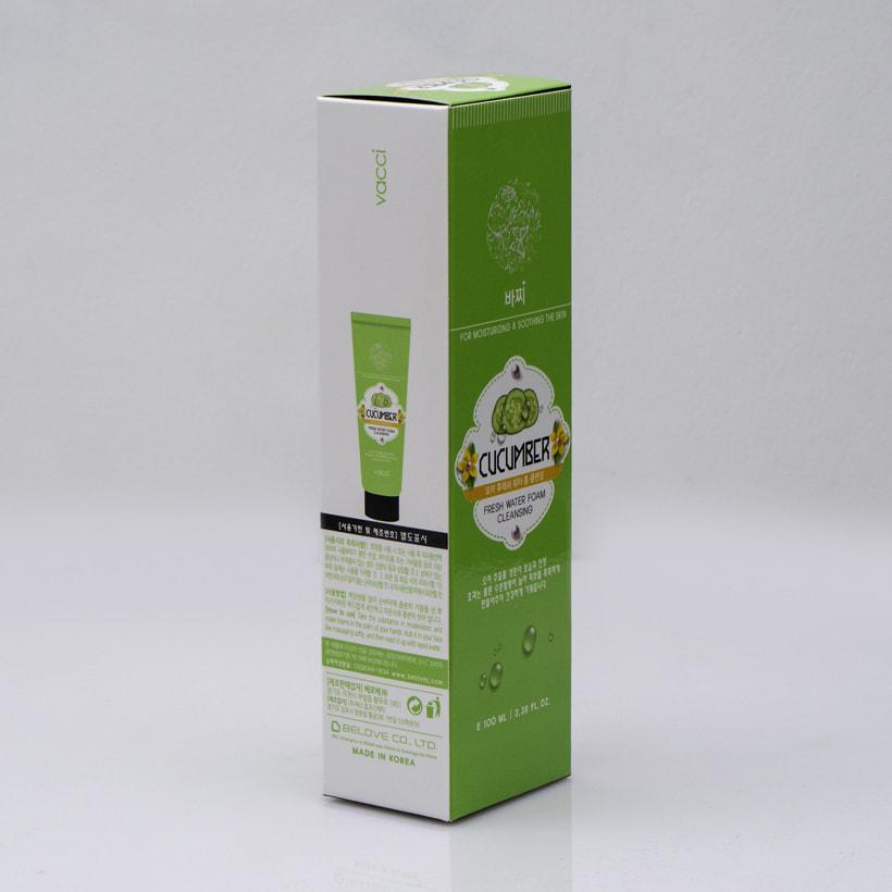 Sữa rửa mặt Vacci tinh chất dưa leo - Vacci Cucumber Fresh Water Foam Cleansing