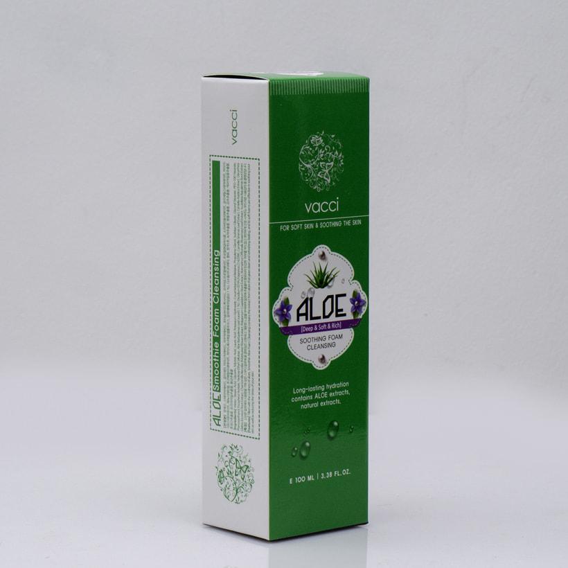 Sữa rửa mặt Vacci tinh chất Lô hội - Vacci Aloe Smoothie Foam Cleansing