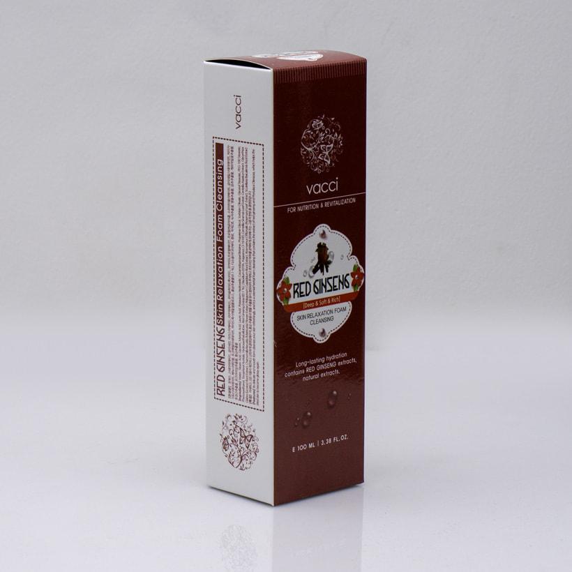 Sữa rửa mặt Vacci tinh chất nhân sâm - Vacci Red Ginseng Skin Relaxation Foam Cleansing