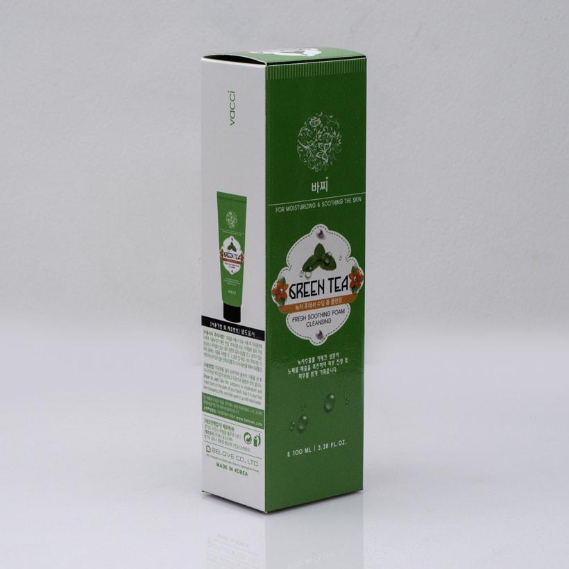 Sữa rửa mặt Vacci tinh chất trà xanh - Vacci Green Tea Fresh Soothing Foam Cleansing