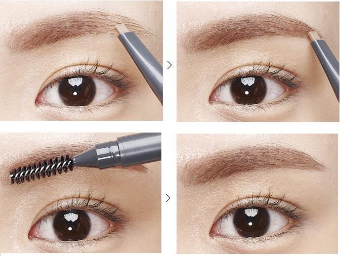 Chì định hình chân mày 2 đầu không lem Vacci Auto Eyebrow Pencil