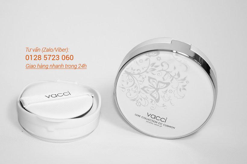 Phấn nước Vacci dưỡng da siêu mịn - Vacci Luxe Collection CC Cushion Spf50 Pa