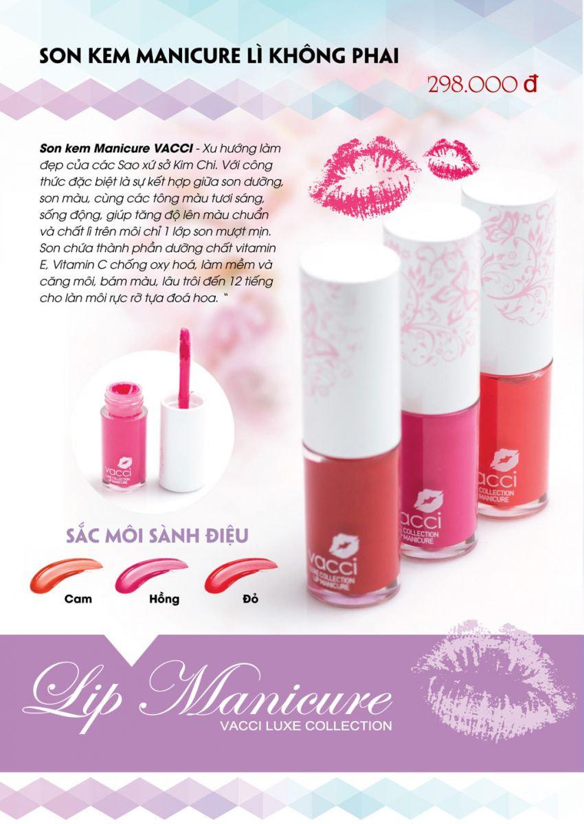 Son kem Vacci Manicure lì không phai - Vacci Luxe Collection Lip Manicure